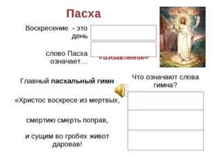 Пасха Воскресение - это деньвозобновления жизни слово Пасха означает…«перех