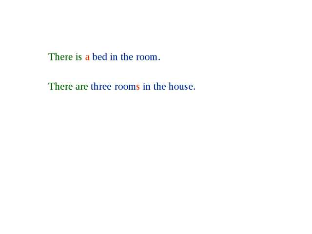There is a bed in the room. There are three rooms in the house.
