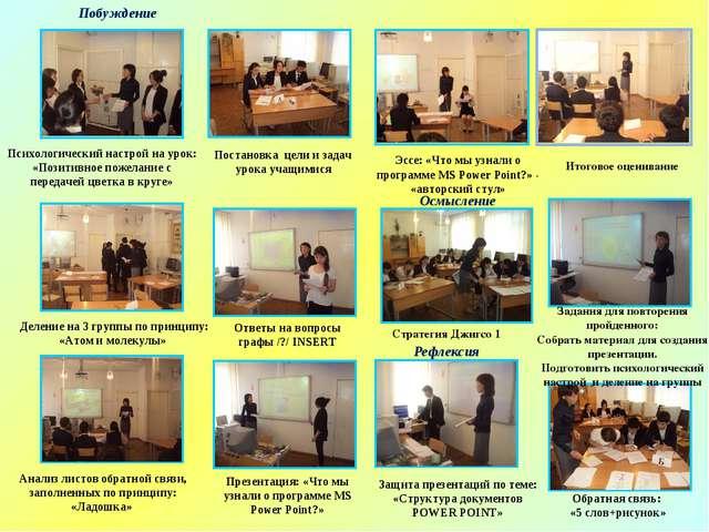 Стратегия Джигсо 1 Деление на 3 группы по принципу: «Атом и молекулы» Постано...