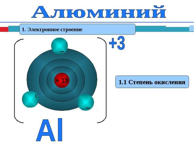 1. Электронное строение 1.1 Степень окисления
