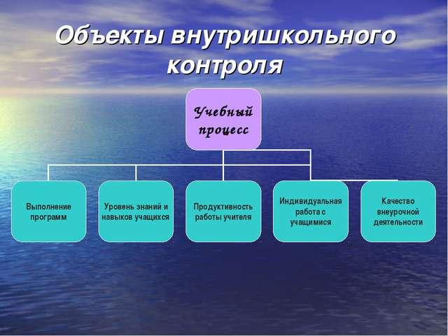Объекты внутришкольного контроля