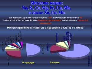 Из известных в настоящее время 107 химических элементов 85 относятся к металл