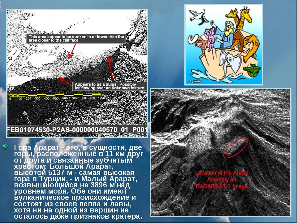 Гора Арарат - это, в сущности, две горы, расположенные в 11 км друг от друга...