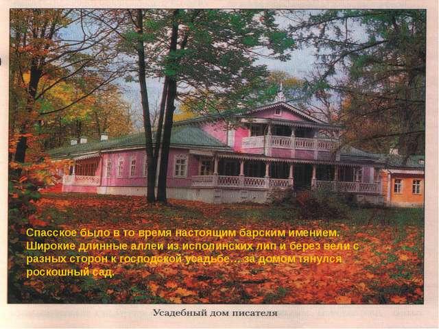 Спасское было в то время настоящим барским имением. Широкие длинные аллеи из...