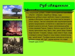 Дуб-священное дерево Дуб-священное дерево Под священными дубами у славян пpо