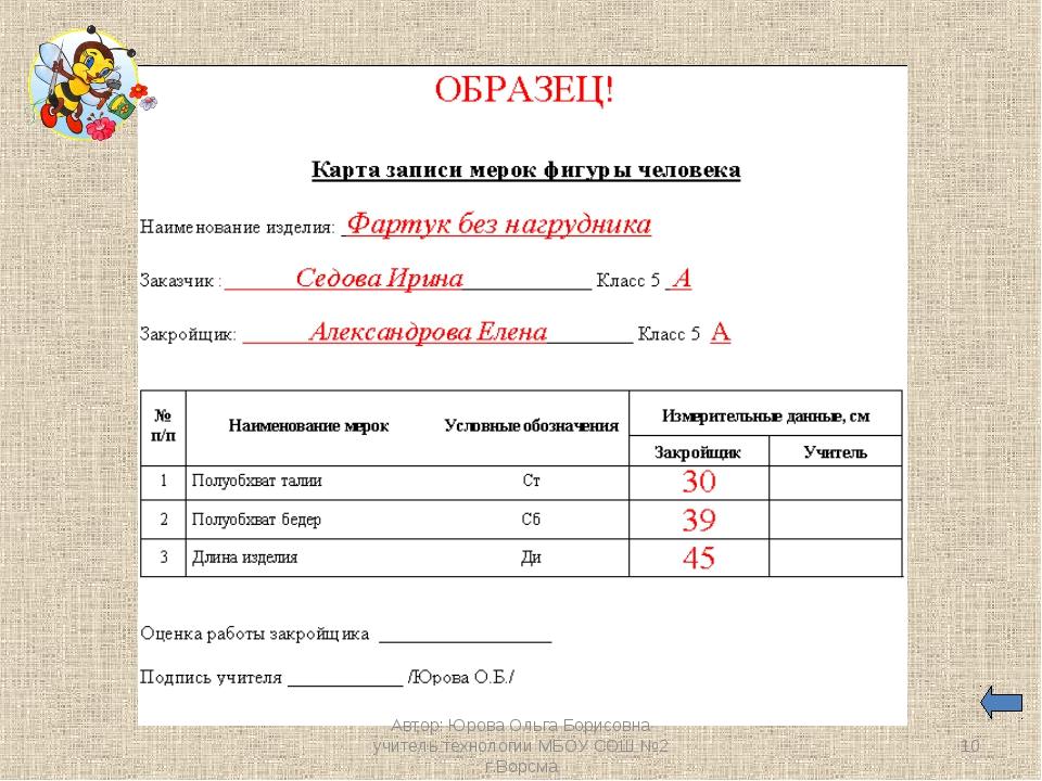 * Автор: Юрова Ольга Борисовна учитель технологии МБОУ СОШ №2 г.Ворсма Автор:...