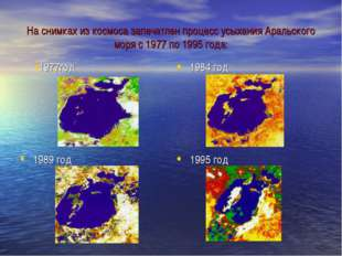 На снимках из космоса запечатлен процесс усыхания Аральского моря с 1977 по 1