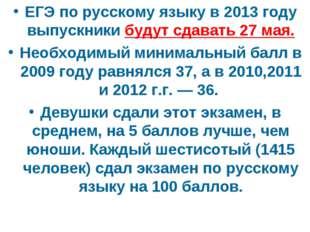 ЕГЭ по русскому языку в 2013 году выпускники будут сдавать 27 мая. Необходимы