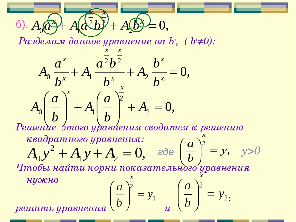 б). Разделим данное уравнение на bx, ( bx≠0): Решение этого уравнения сводитс...