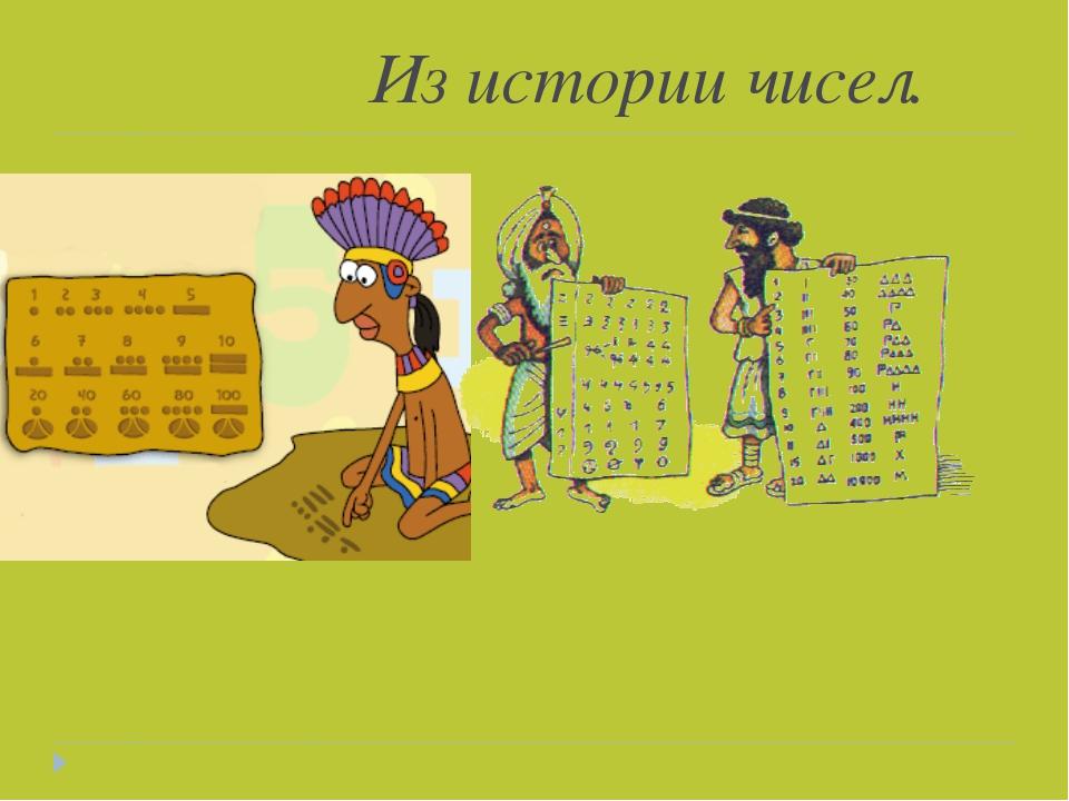 Из истории чисел.