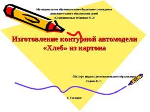 Муниципальное образовательное бюджетное учреждение дополнительного образовани