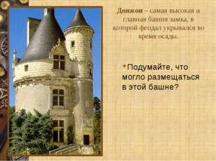 Донжон – самая высокая и главная башня замка, в которой феодал укрывался во в