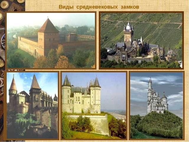 Виды средневековых замков