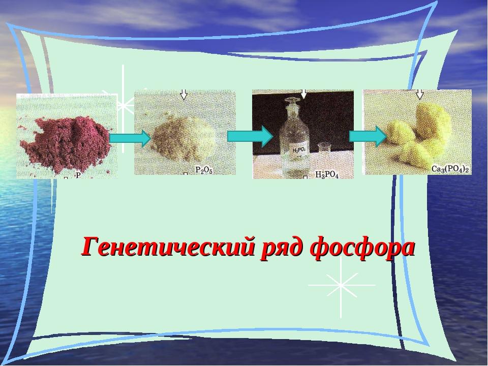 Генетический ряд фосфора