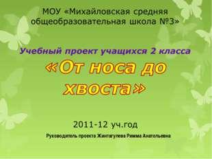 Руководитель проекта Жинтагулева Римма Анатольевна