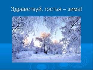 Здравствуй, гостья – зима!