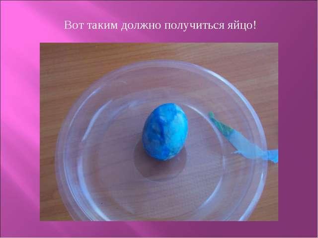 Вот таким должно получиться яйцо!