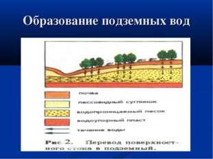 Образование подземных вод