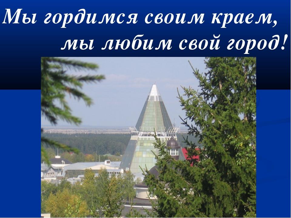 Мы гордимся своим краем, мы любим свой город!