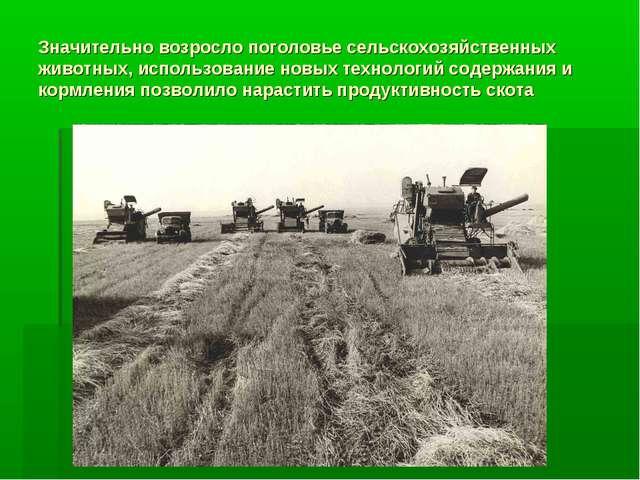 Значительно возросло поголовье сельскохозяйственных животных, использование н...