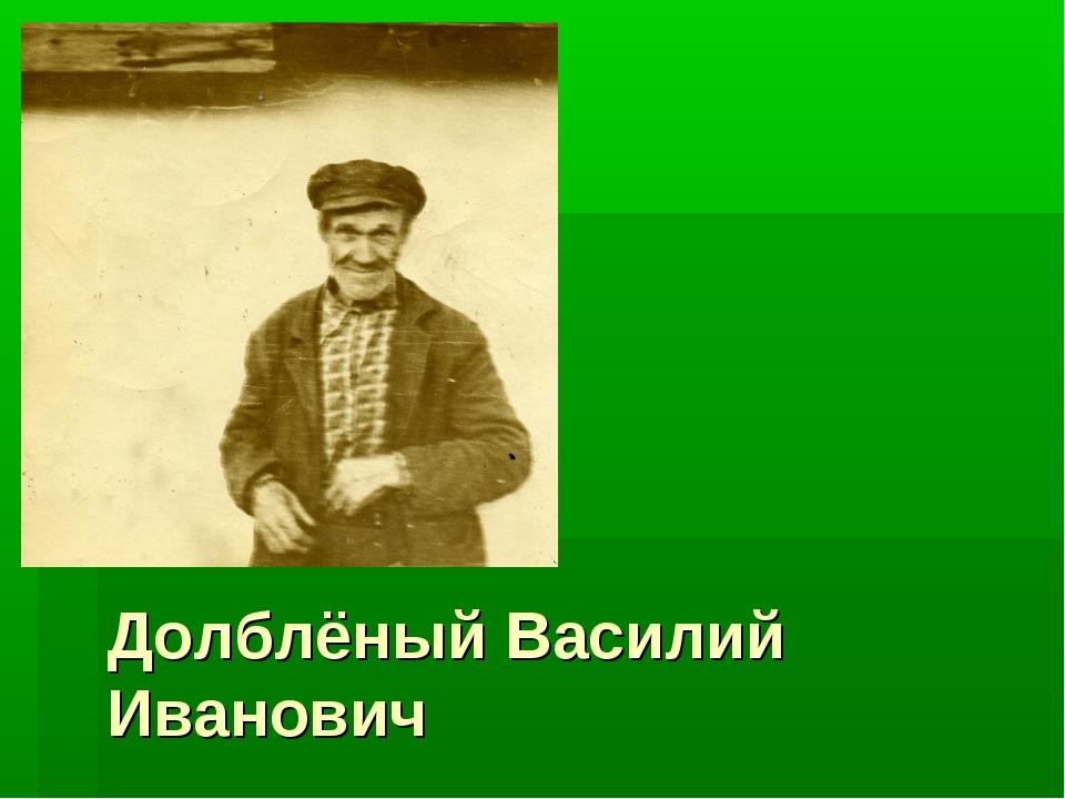 Долблёный Василий Иванович