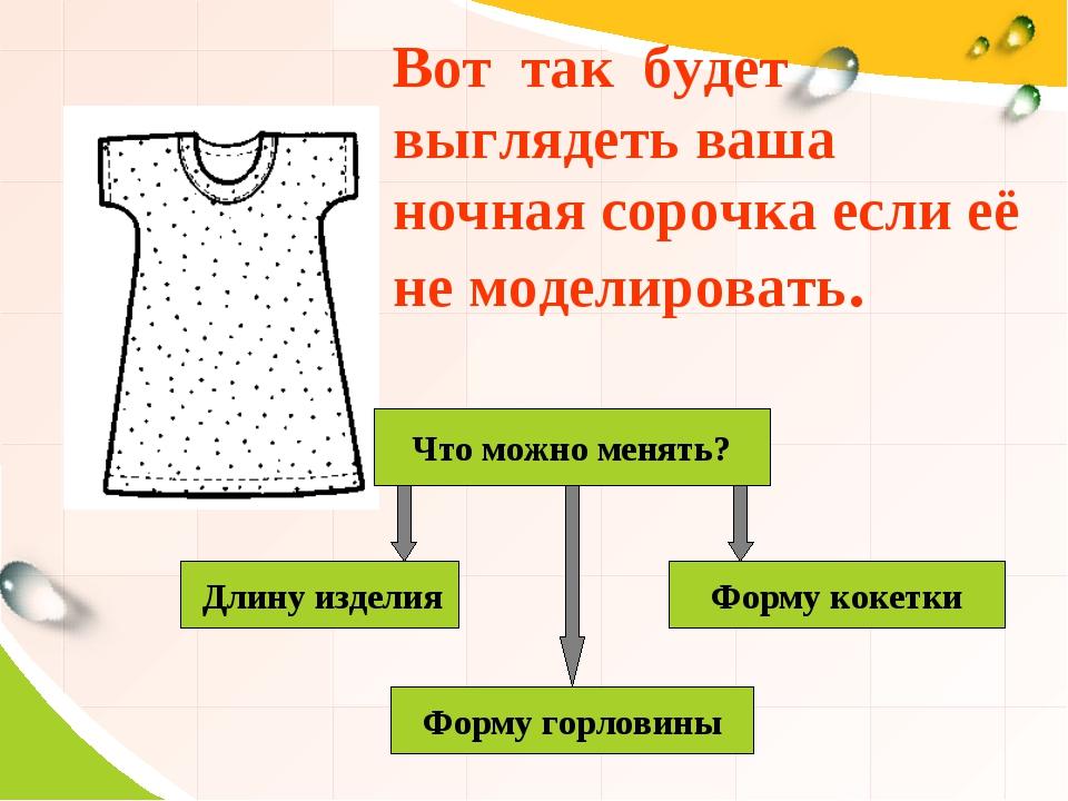 Вот так будет выглядеть ваша ночная сорочка если её не моделировать. Что мож...
