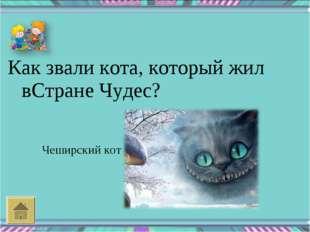 Как звали кота, который жил вСтране Чудес? Чеширский кот