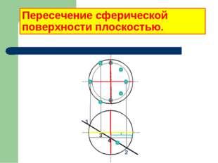 Пересечение сферической поверхности плоскостью. 1 2 3 4
