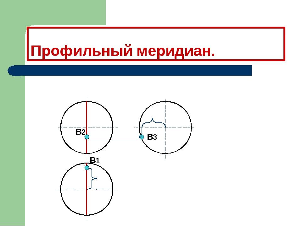 Профильный меридиан. В1 В2 В3
