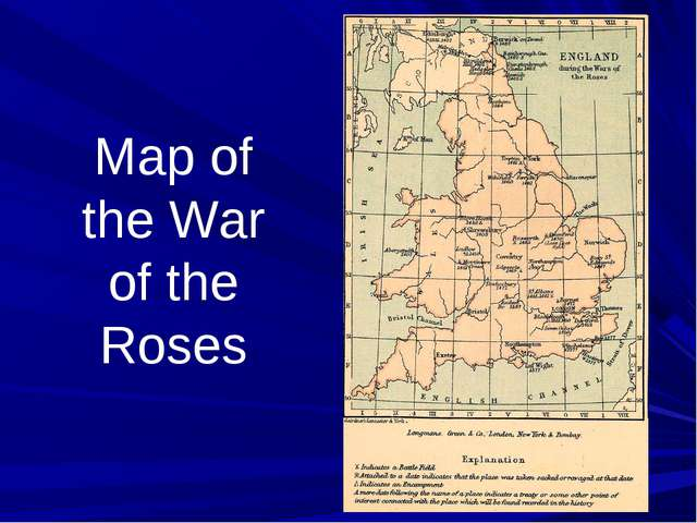 Map of the War of the Roses