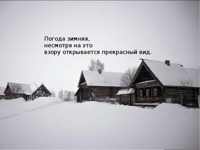 Погода зимняя, несмотря на это взору открывается прекрасный вид.