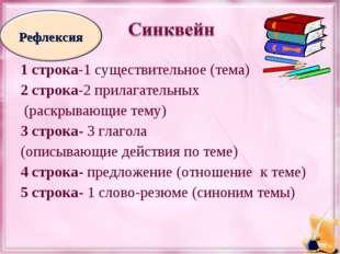 1 строка-1 существительное (тема) 2 строка-2 прилагательных (раскрывающие тем