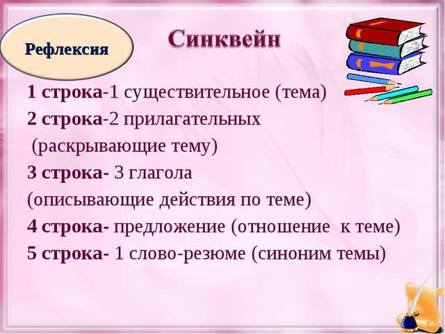 1 строка-1 существительное (тема) 2 строка-2 прилагательных (раскрывающие тем...