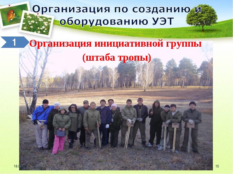 Организация инициативной группы (штаба тропы) * *