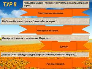 Шабалин Максим– призер Олимпийских игр по… Кисилёва Мария– трехкратная чемпио