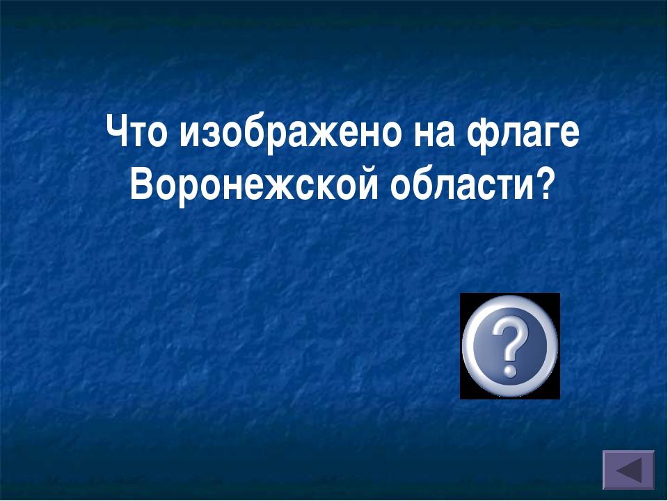 Что изображено на флаге Воронежской области?