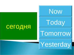 сегодня Today Now Tomorrow Yesterday