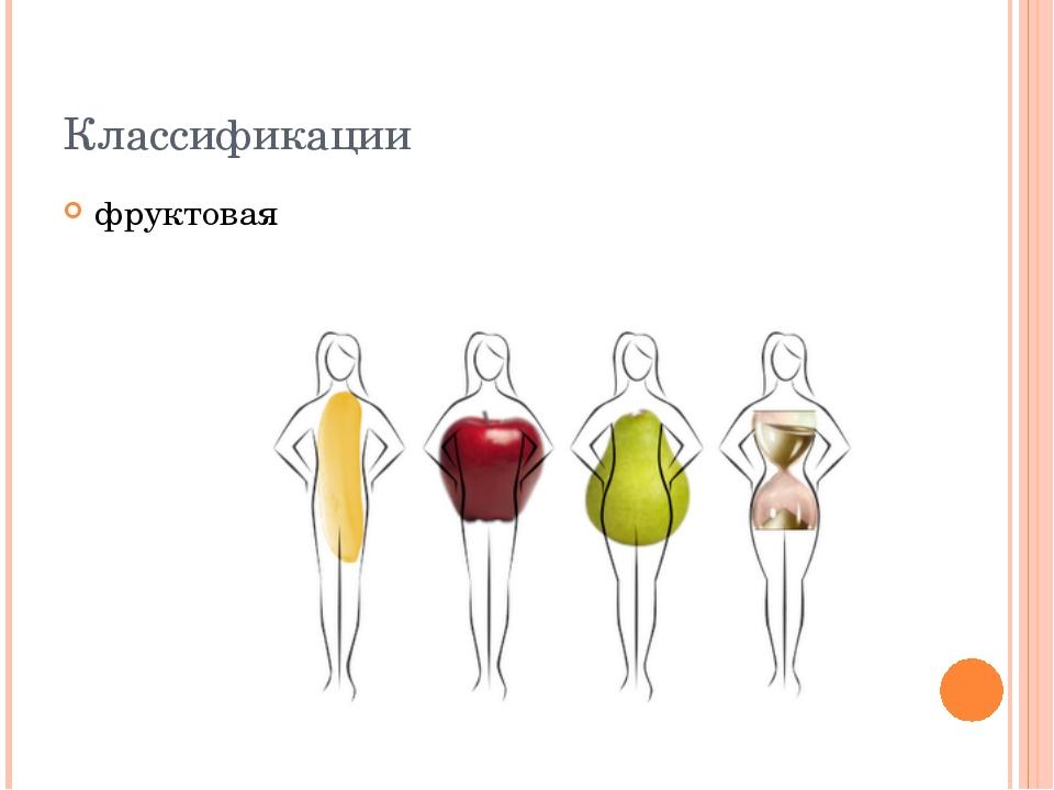Классификации фруктовая