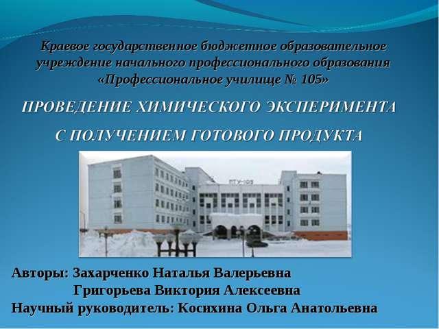Краевое государственное бюджетное образовательное учреждение начального профе...
