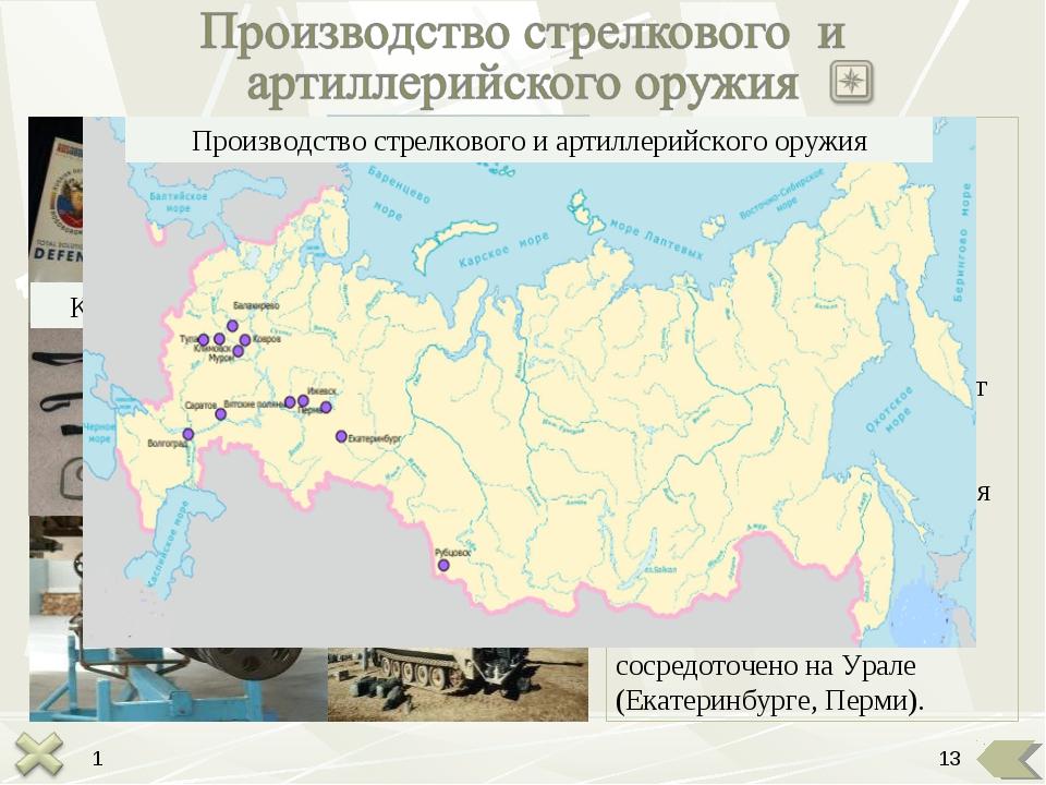 Калашников М.Т. Главные конструкторские центры стрелкового оружия размещены в...