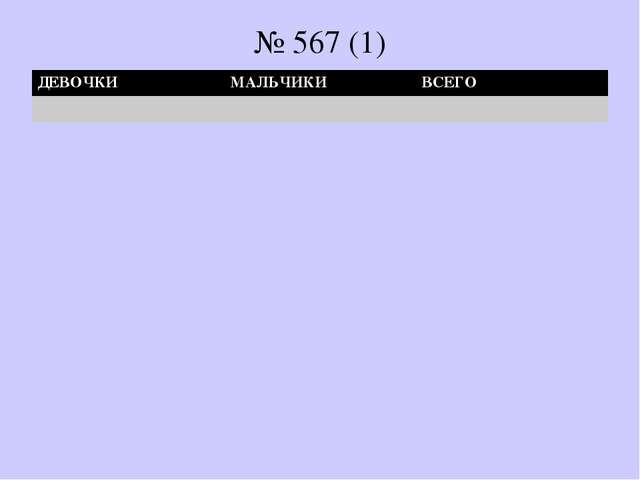 № 567 (1) ДЕВОЧКИМАЛЬЧИКИВСЕГО