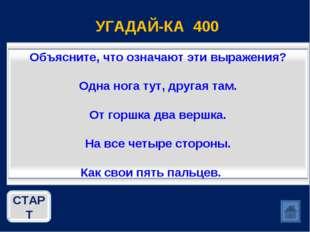 УГАДАЙ-КА 400