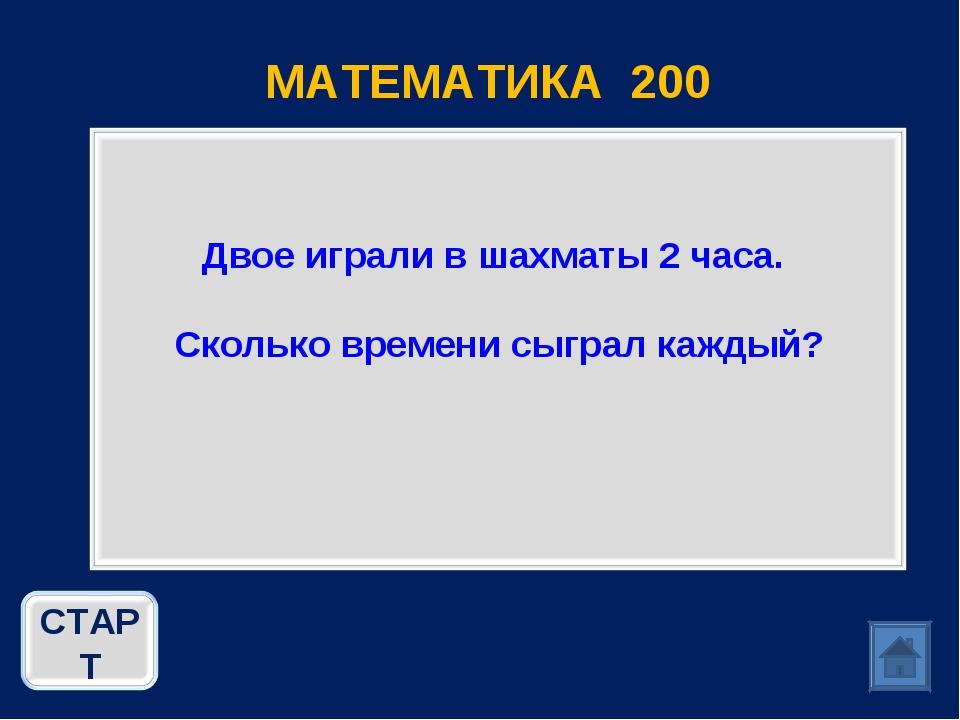 МАТЕМАТИКА 200