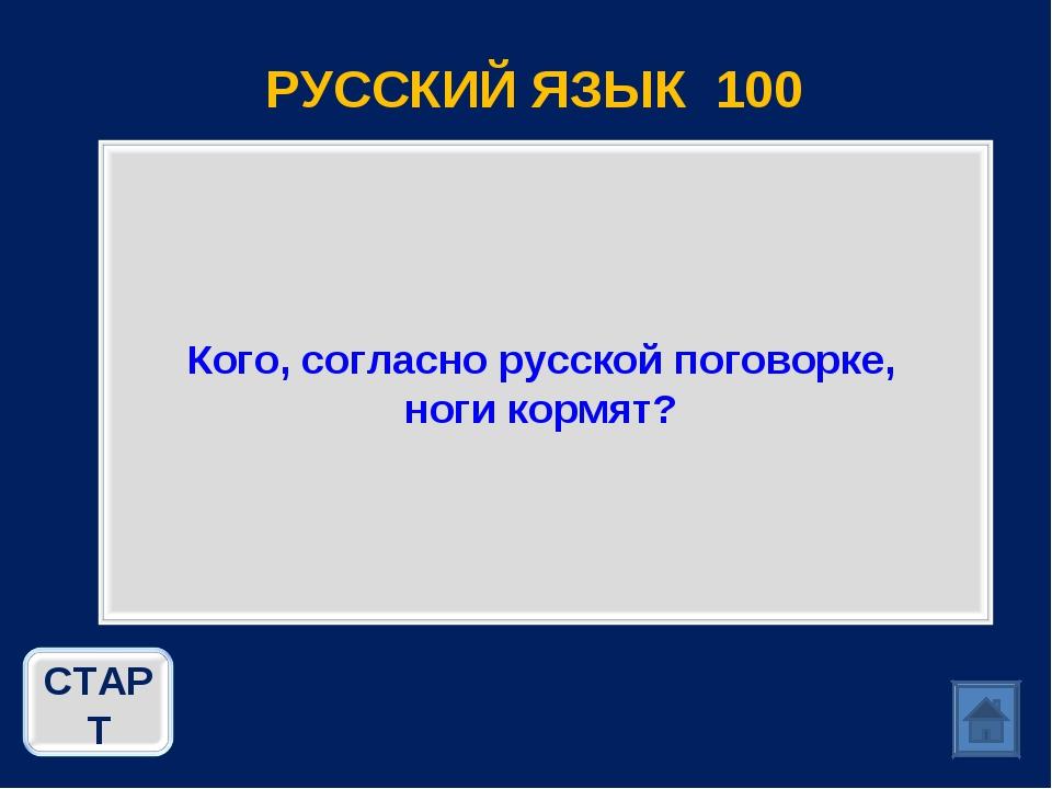 РУССКИЙ ЯЗЫК 100