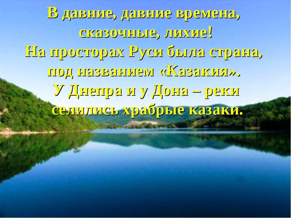 В давние, давние времена, сказочные, лихие! На просторах Руси была страна, по...