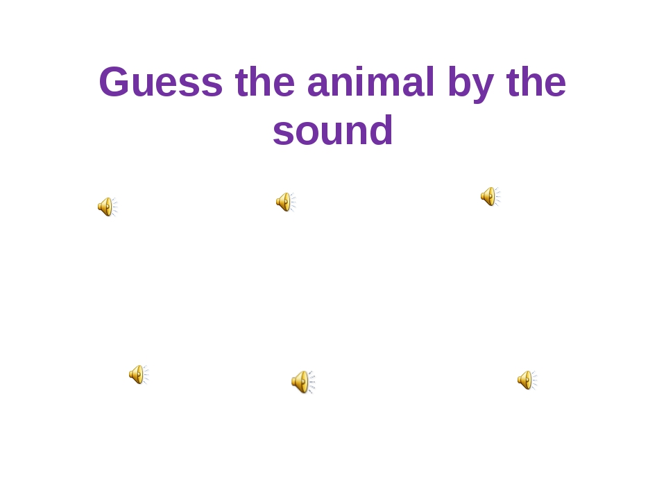 Guess the animal by the sound