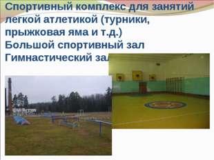 Спортивный комплекс для занятий легкой атлетикой (турники, прыжковая яма и т.
