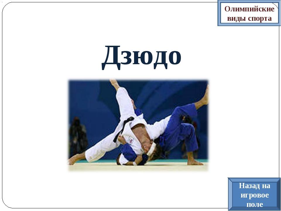 Дзюдо Олимпийские виды спорта Назад на игровое поле