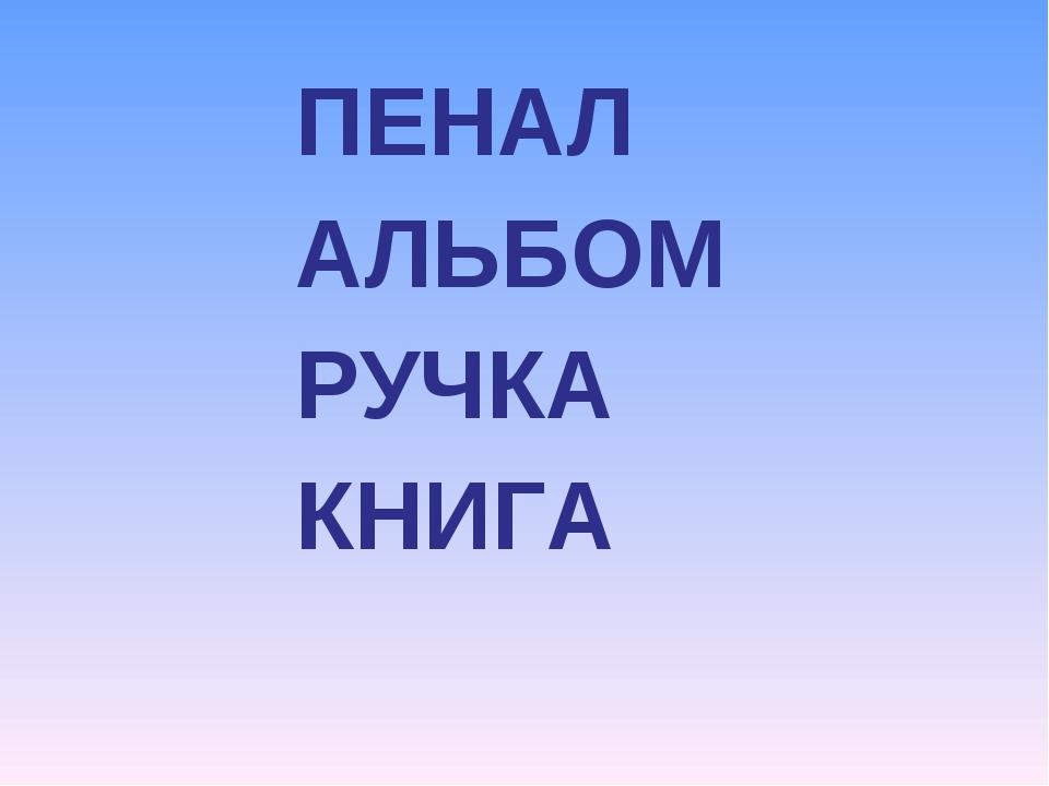 ПЕНАЛ АЛЬБОМ РУЧКА КНИГА