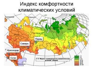 Индекс комфортности климатических условий